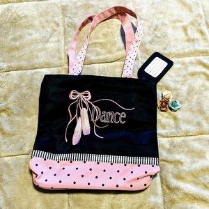 Sassi DANCE bag with ballet slippers NWOT